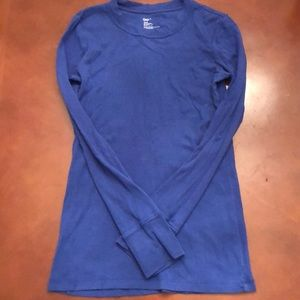 Gap small blue long sleeve top stretch
